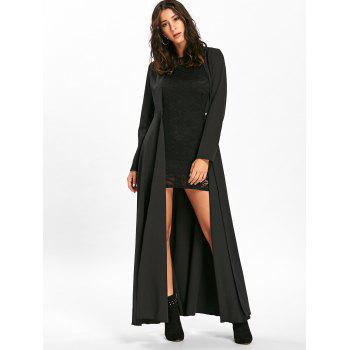 Mini Lace Bodycon Dress with Long Coat, BLACK, M in Jackets ...