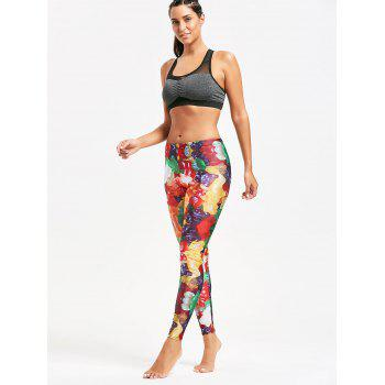 Multicolor Candy Pattern Leggings for Sports - YELLOW YELLOW