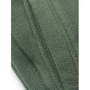 Flag Embroidered Zip Up Fleece Waistcoat - ARMY GREEN ARMY GREEN