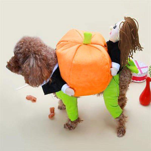 Pet Dog Change Clothes Puppy Pumpkin Costume - BRILLIANT GREEN S