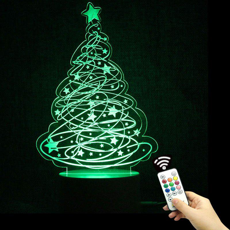 Color Change Christmas Tree and Stars Shape Remote Control Night Light color change remote control led animal shape night light