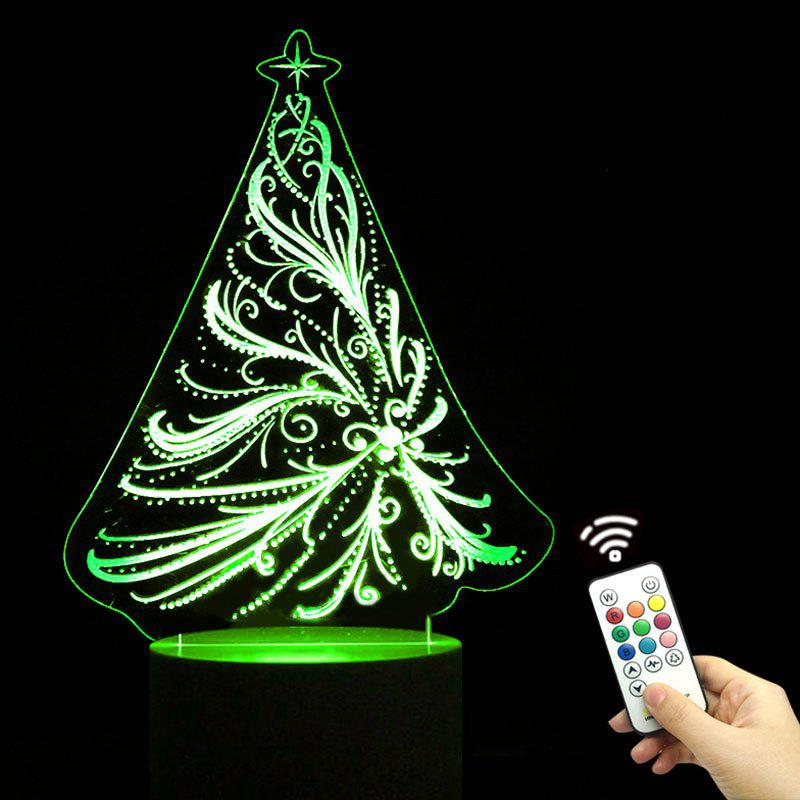 Christmas Tree Shape Remote Control Color Change Night Light color change remote control led animal shape night light