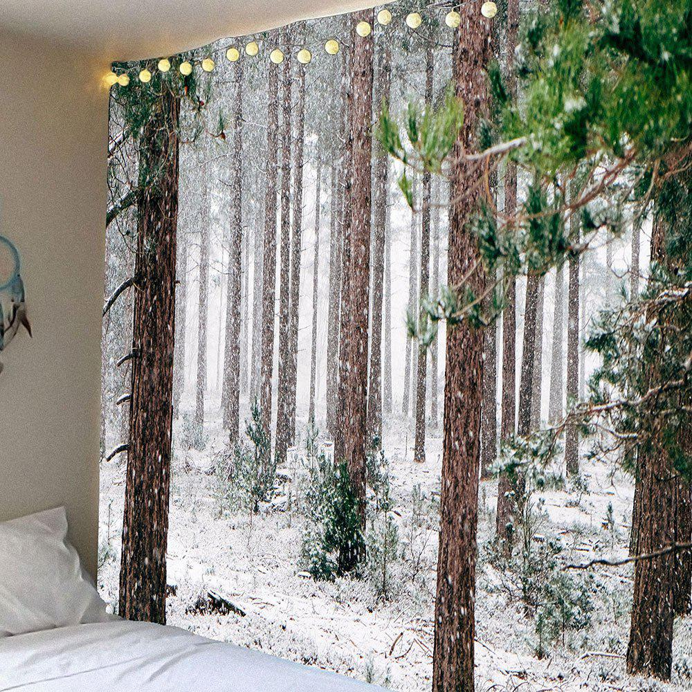 Forest Snow Pattern Waterproof Wall Art Tapestry forest management