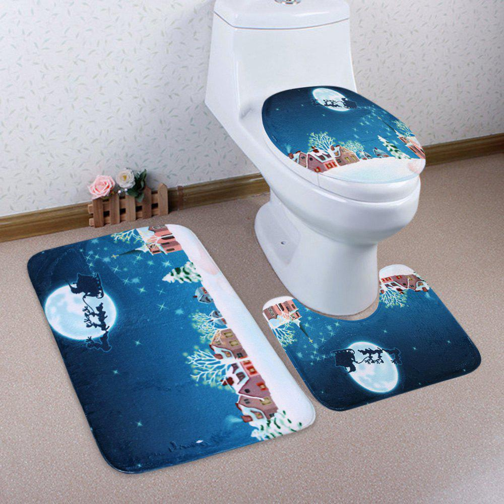 Ensemble mousseline de toilette à neige Snow Moon Sleed 3Pcs - Bleu