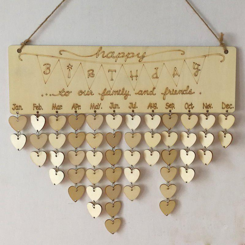 DIY Wooden Heart Family And Friends Birthdays Calendar gayle m the hope family calendar
