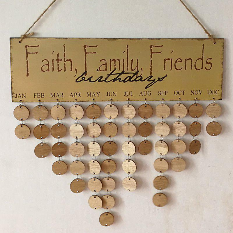 DIY Wooden Faith Family And Friends Birthday Calendar