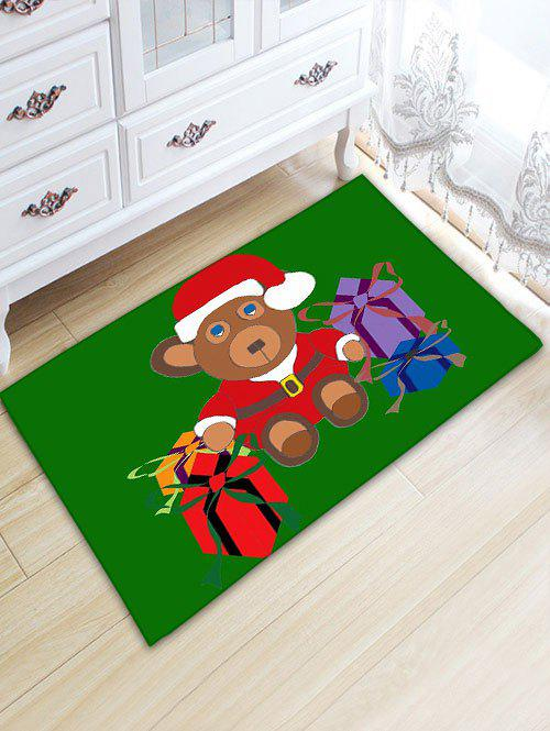 Flanel Thickening Christmas Beer Gift Area Rug - Vert W20 INCH * L31.5 INCH