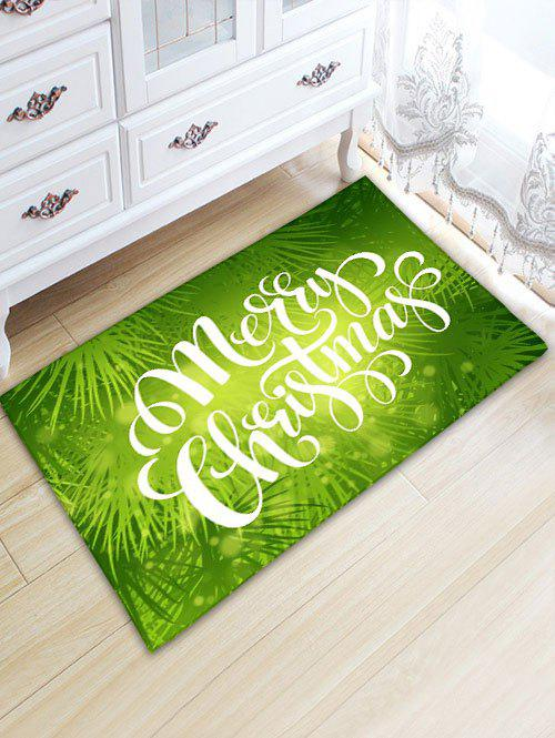 Thickening Flannel Christmas Letter Print Rug - GREEN W20 INCH * L31.5 INCH