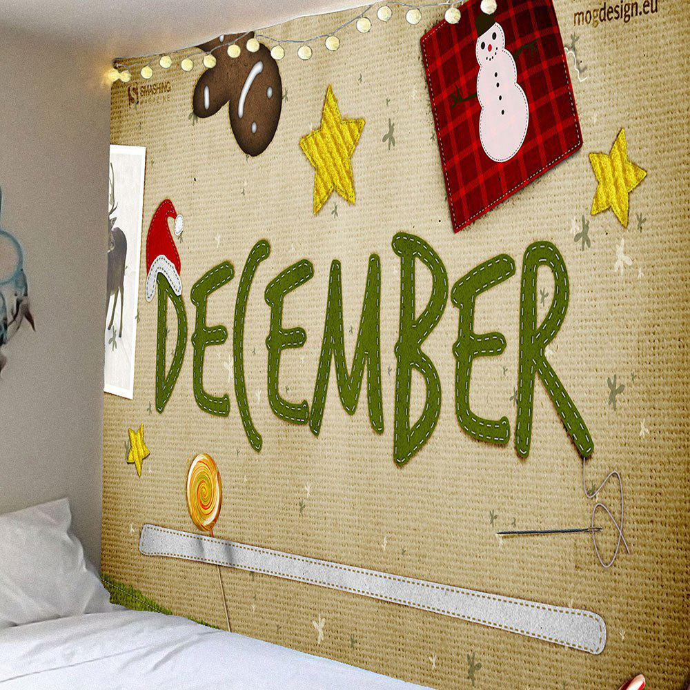 2018 Christmas Decorations Patterned Waterproof Wall Decor Tapestry ...