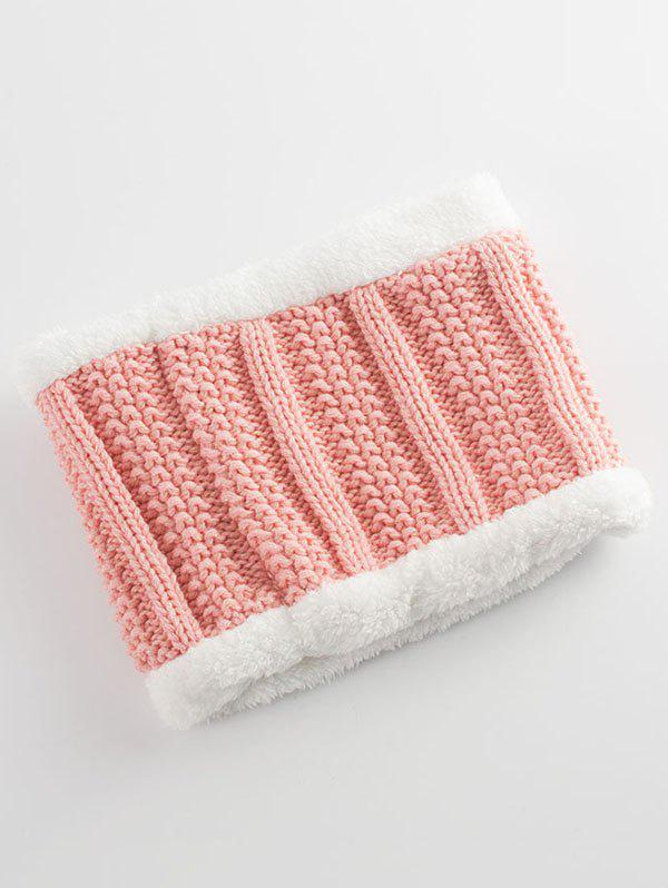 Letter B Label Knitted Pom Hat and Scarf - PAPAYA