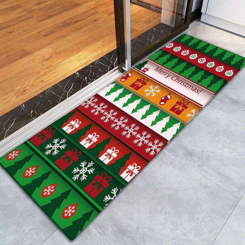 Flannel Thin Christmas Graphic Antislip Mat - COLORMIX W16 INCH * L47 INCH