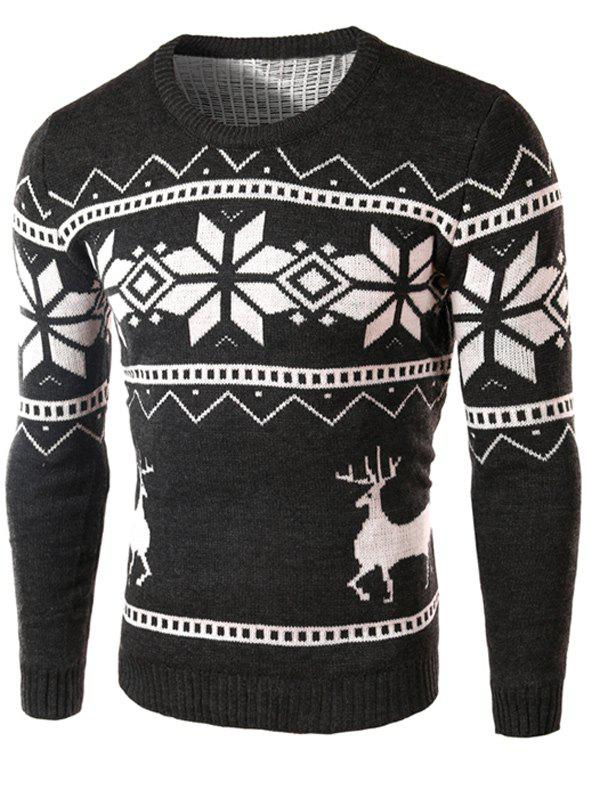 Snowflake and Deer Pattern Christmas Sweater кардиган absolut joy кардиганы вязаные