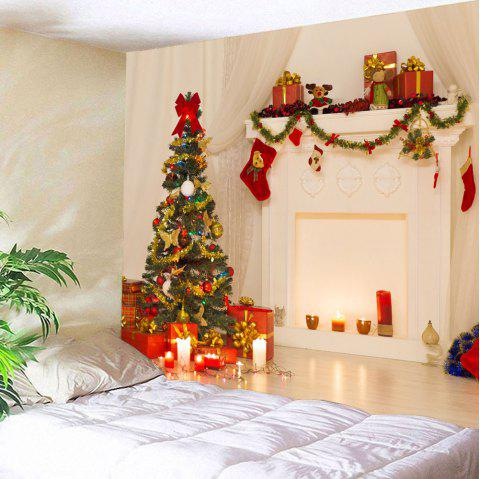 3D Christmas Printed Waterproof Wall Decor Tapestry - COLORFUL W79 INCH * L59 INCH