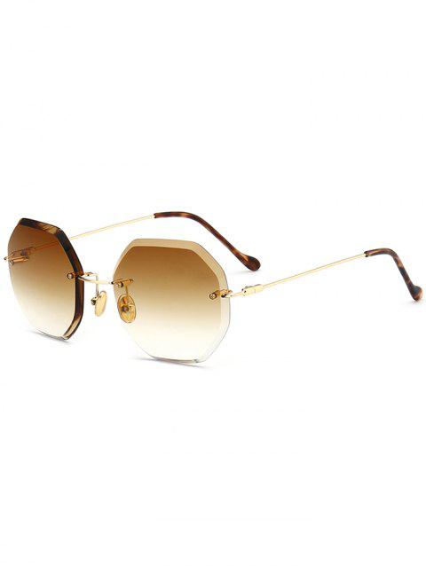 f3689c2e13 LIMITED OFFER  2019 Ombre Lens Round Hexagons Rimless Sunglasses In ...