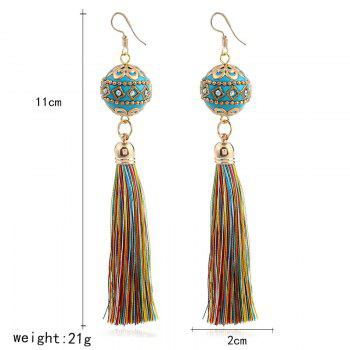 Rhinestone Vintage Ball Tassel Hook Earrings -  COLORMIX