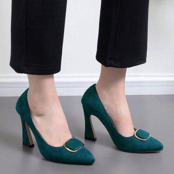 Super High Heel Buckle-toe Pumps - GREEN GREEN