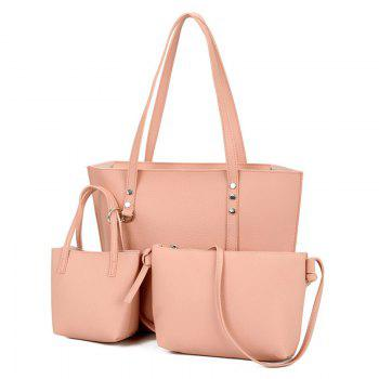 3 Pieces Shoulder Bag Set - PINK PINK