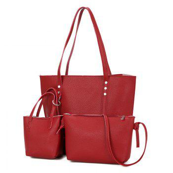 3 Pieces Shoulder Bag Set - RED RED