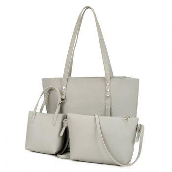 3 Pieces Shoulder Bag Set - LIGHT GRAY LIGHT GRAY