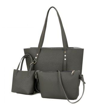 3 Pieces Shoulder Bag Set - DEEP GRAY DEEP GRAY