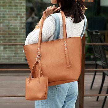3 Pieces Shoulder Bag Set -  BROWN