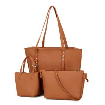 3 Pieces Shoulder Bag Set - BROWN BROWN