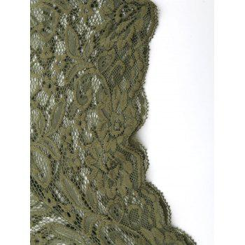 Lace Criss Cross Choker Teddy - ARMY GREEN ARMY GREEN