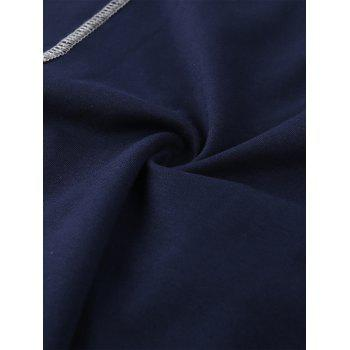Broderie Patched Zip Up Jacket - Bleu M