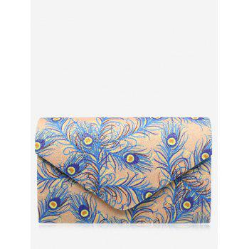Print Envelope Sparkle Clutch Bag - APRICOT APRICOT