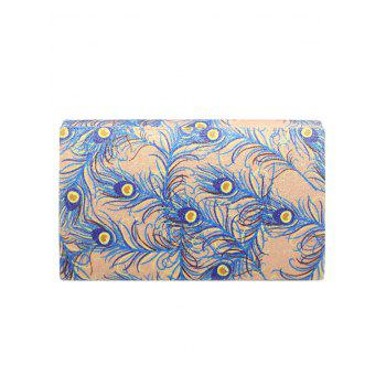 Print Envelope Sparkle Clutch Bag -  APRICOT