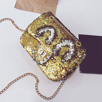 Sparkle Chain Crossbody Bag - GOLDEN