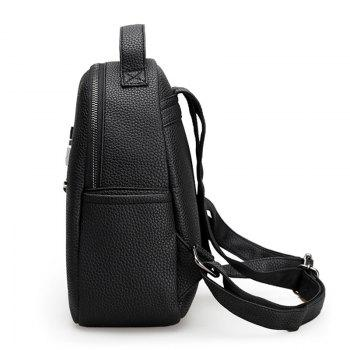 Metal PU Leather Stud Backpack -  BLACK