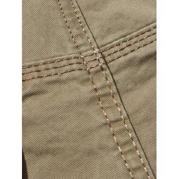 Drawstring Feet Pockets Cargo Pants - KHAKI 32