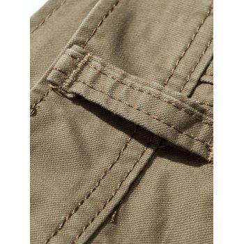 Drawstring Feet Pockets Cargo Pants - 36 36