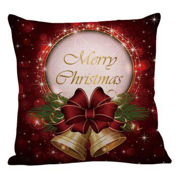 Home Decor Christmas Bell Printed Pillow Case - W18 INCH * L18 INCH W18 INCH * L18 INCH