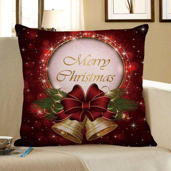 Home Decor Christmas Bell Printed Pillow Case
