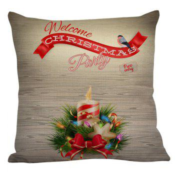 Christmas Candle Pattern Square Pillow Case - COLORFUL COLORFUL
