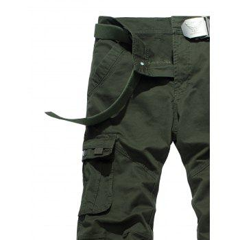 Drawstring Feet Pockets Cargo Pants - 32 32