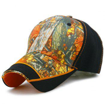 Outdoor Adjustable Baseball Hat with Camouflage Pattern - YELLOW AND BLACK YELLOW/BLACK