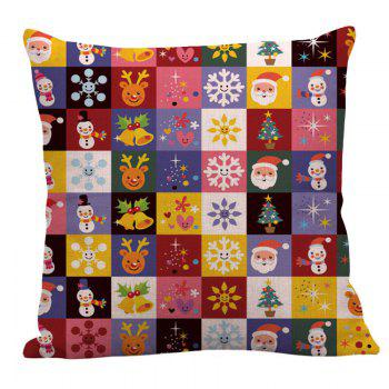 Christmas Decorations Patterned Linen Pillow Case - W18 INCH * L18 INCH W18 INCH * L18 INCH
