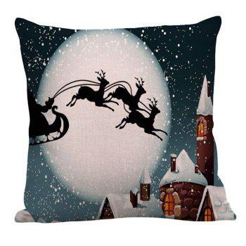 Moon and Christmas Reindeer Pattern Pillow Case - GRAY W18 INCH * L18 INCH
