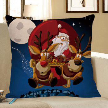 Home Decor Christmas Cartoon Elk Pattern Pillow Case - COLORFUL W18 INCH * L18 INCH