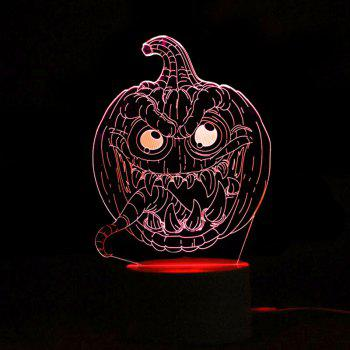 Halloween 3D Pumpkins Shape Color Change Télécommande Night Light - Transparent