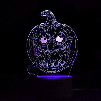 Halloween 3D Pumpkins Shape Color Change Remote Control Night Light - TRANSPARENT