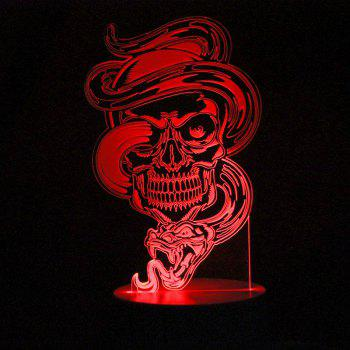 Dragon Skull Shape Remote Control Color Change Night Light - TRANSPARENT