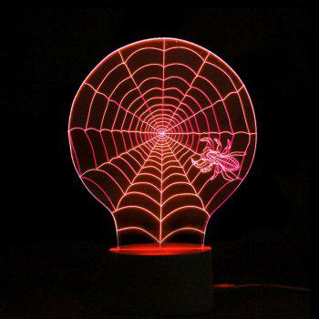 Color Change Halloween 3D Cobwebs Shape Remote Control Night Light -  TRANSPARENT