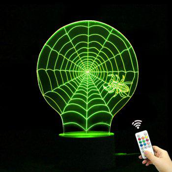 Color Change Halloween 3D Cobwebs Shape Remote Control Night Light - TRANSPARENT TRANSPARENT