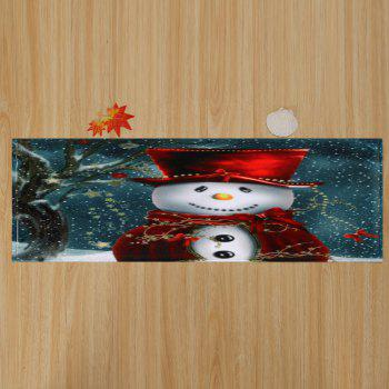 Skidproof Christmas Snowman Print Bath Mat - COLORMIX W24 INCH * L71 INCH