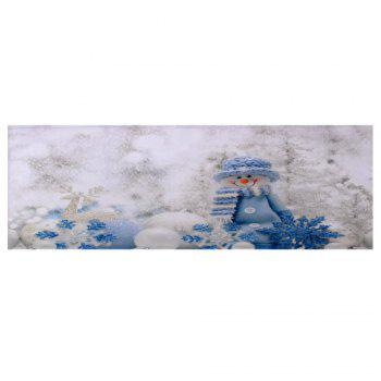 Christmas Snowman Print Skidproof Bath Mat - WHITE W24 INCH * L71 INCH