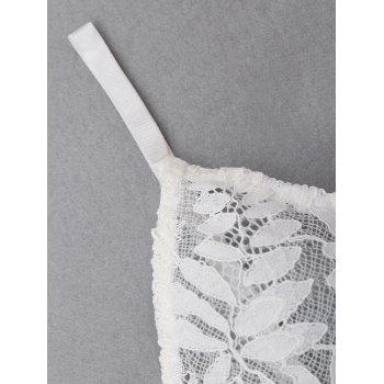 Triangle Lace Bra Set - WHITE L
